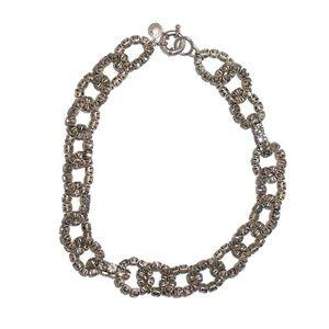 J. Crew Chunky Chain Necklace Smokey Gray Gems